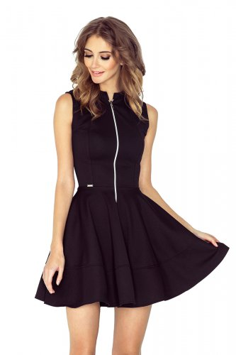 dress with zipper - black 123-12
