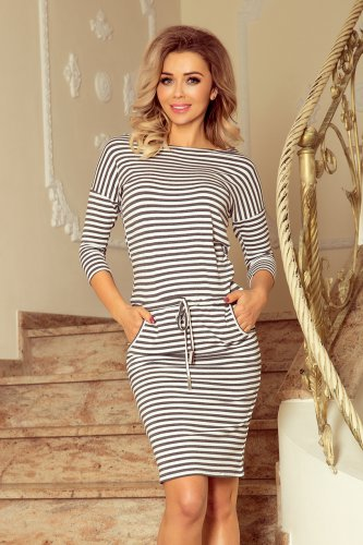 13-102 Sporty dress - gray stripes