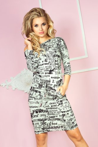 Sporty dress - paper + gray 13-27