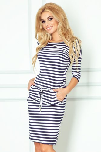 Sporty dress - Blue stripes 13-34