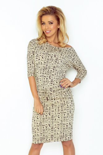 Sporty dress - Egyptian beige signs 13-37