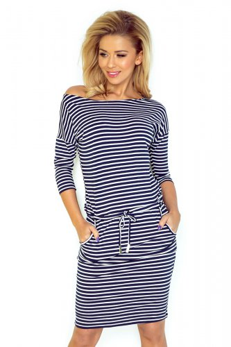 Sporty dress - Blue stripes  13-51