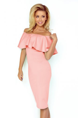 138-8 Dress with frill - pastel pink