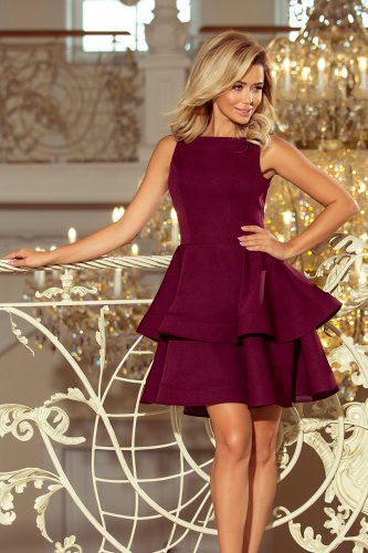 169-7 Dress CRISTINA - Burgundy color
