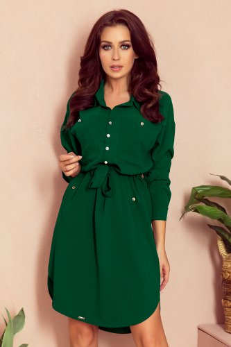 258-2 BROOKE Shirt dress - green