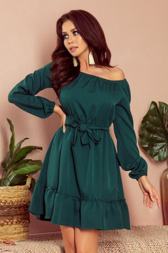 265-1 DAISY Dress with frills - green