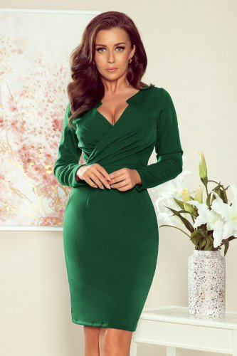 272-3 MIA Dress with a neckline - green