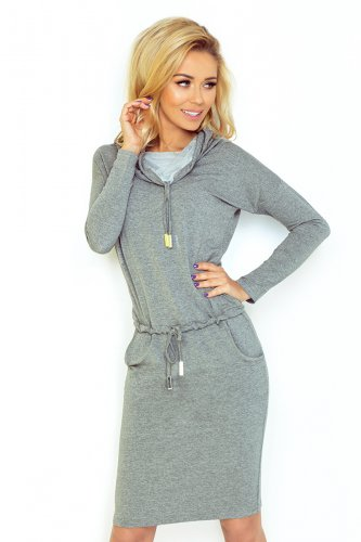 Sports dress with binding - gray 44-2