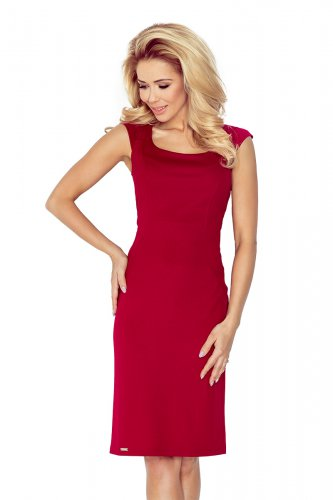 Fitted dress - dark red 53-31