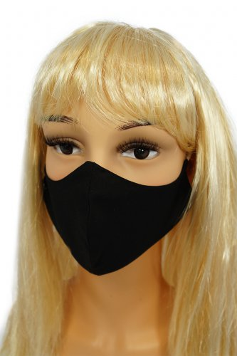 CV014 Reusable decorative masks - Black - 100% cotton - 2 pieces - size L