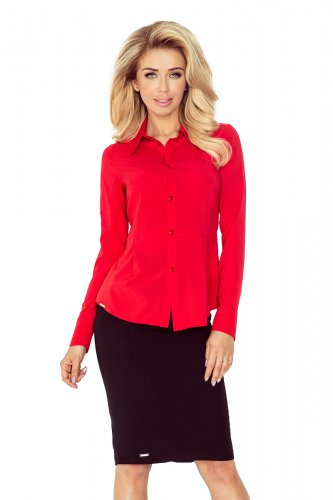 Red blouse - buttons MM 016-1