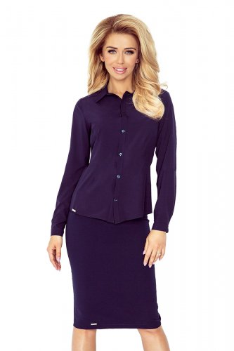 Navy blue blouse - buttons MM 017-3